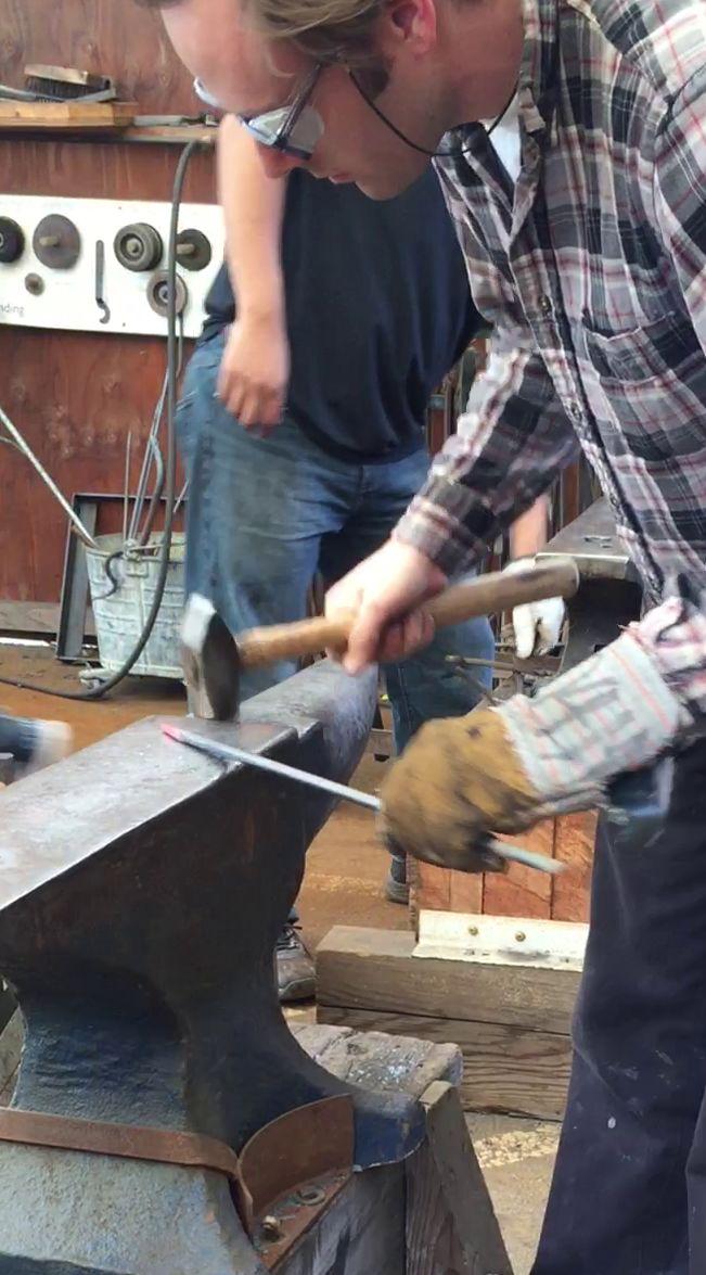 Metal forging in Art