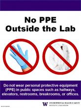 No PPE Outside the Lab poster